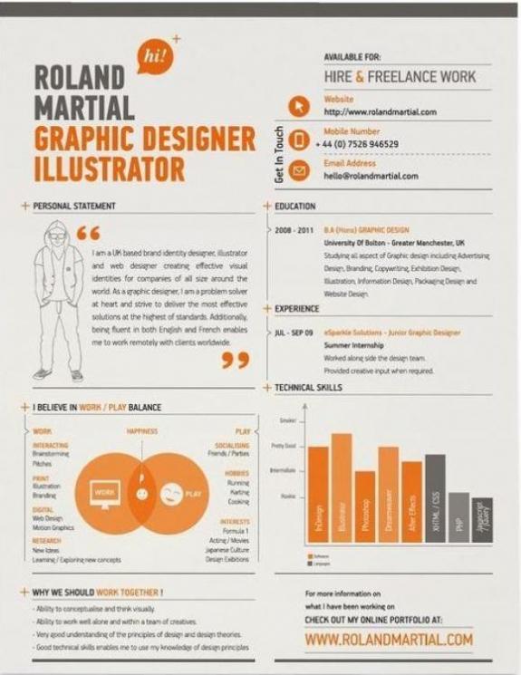 резюме дизайнера графического образец